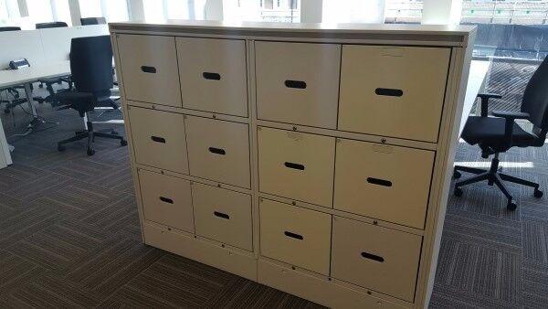 Used 12 Drawer Lockers Hotdesk lockers