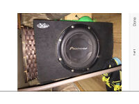 12 inch pioneer subwoofer - 1000 watts