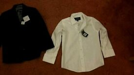 Boys suit jacket and shirt age 5-6