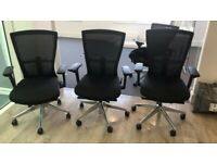 Bestuhl Radius office chair Black NetWeave Aluminium base 3D armrests mesh