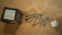 (36) - 1/4x3 Lag Bolts with washers - NEW