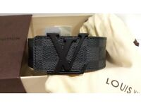 louis vuitton black damier belt mens brand new LV