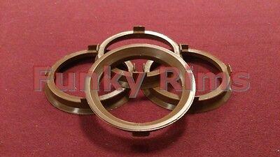 Spigot Rings for Aftermarket Alloys 67.1-57.1mm Volkswagen VW Bora Fox Golf Polo