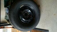 Set of 4 rims with winter tires. Fits Dodge Ram.