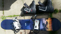 Snowboard: K2 access with Firefly bindings and boots (s10 mens)