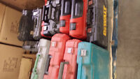 Used Power Tools (Battery) -  Dewalt, Milwaukee, Makita, Bosch