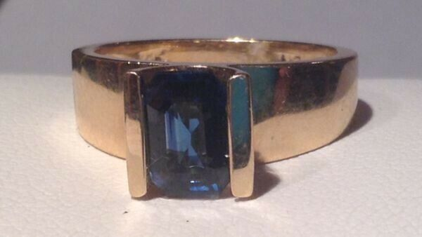 14K Yellow Gold Sapphire Ring - $1,200.00