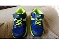 Boys size 8 trainers pro touch blue with green trim