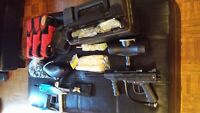 Pro Speedball Paintball gun and accessories