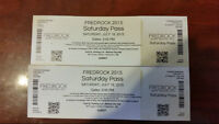 Two Saturday Passes to FREDROCK 2015
