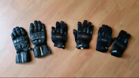2 PAIRES GANTS MOTO FEMME - 2 PAIRS WOMEN MOTORCYCLE GLOVES