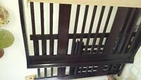 Walnut 4 - in - 1 Crib $250 obo