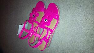 Pink SmarFit Sandals, size 3.5 (big girls) - $7