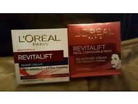 L'oreal revitalift day and night creams