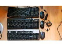 3x keyboards and mice bundles - including Microsoft Comfort Keyboard