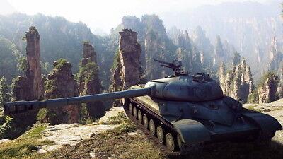 """008 World Of Tanks Centurion Overcast - Fight  Hot TV Game 42""""x24"""" Poster"""