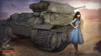 """011 World Of Tanks Centurion Overcast - Fight  Hot TV Game 42""""x24"""" Poster"""