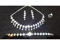 Brand New 4 Piece Jewellery Set Earrings Necklace Ring and Bracelet