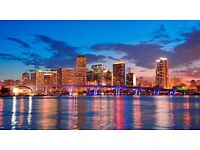 1 return flight ticket, London- Miami, 2 Dec- 14 Dec