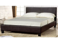 Leather Bed - Double and Kingsize Boxed