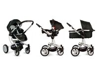 Graco travel system includes carry cot, toddler's chair, car seat for £175.