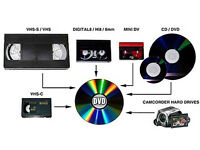 Any Camcorder/Video Cassettes Or Tapes Transferred Onto DVD