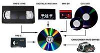 20 $ Transfert Vidéo sur DVD ou clef USB
