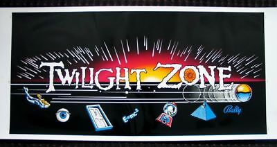 TWILIGHT ZONE SCREEN PRINTED Cabinet decal set, impossible to find!