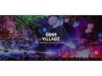 Lost Village Tickets x 4, 1 x Luxury Super Bell Teepee Tent in Boutique camping (sleeps 4)