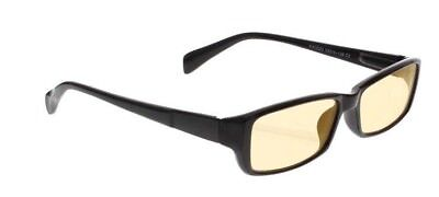 Computer Glasses with Peach Poly Double Sided AR Coating - Black Plastic Frame
