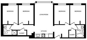 Winter Term January-April 1/4 Sublet- 173 King Street North