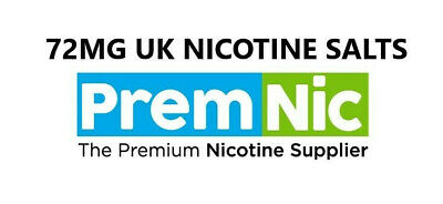 (7.2%) 72MG Nicotine Salts B by PremNic USP/EP Grade Diluted in PG