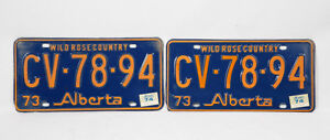 Alberta Old(er) License Plates Pairs ~~~~~ YES, it is available