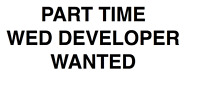 Part Time Web Developer Wanted