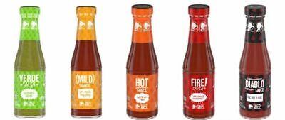 Lot of 3 Pack Taco Bell Sauce 7.5 oz Glass Bottle Pick 3 Mild, Hot, Fire, Diablo 3 Pack Hot Sauce