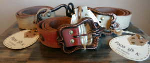Papa AND K HANDMADE ALL LEATHER BELTS