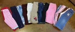 18 Pairs of Size 12 Month Girls Pants