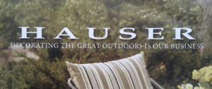 Highly sought after Hauser Outdoor Furniture