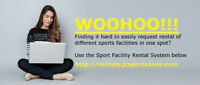 Request sports facility rental