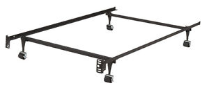 Metal Bed Frame Double on wheels