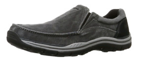 NEW Skechers men loafers black/grey size 12