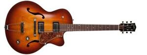 5th Avenue CW Arch Top Electric Kingpin II HB Cognac Burst Godin 039289