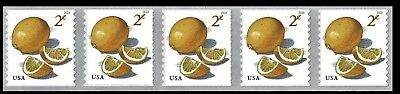 #5256 2c Meyer Lemons Strip/5 - MNH (Ships after Jan 19th)