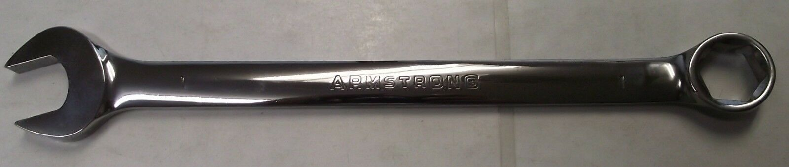 "Armstrong 25-332 6 Point 1/"" Full Polish Long Pattern Combination Wrench USA"