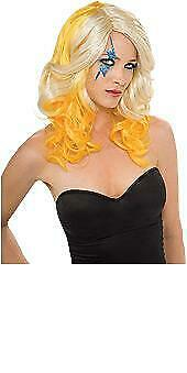 NEW LADY GAGA Blonde & Yellow Wig 2 Tone Wig Officially  Licensed Costume Adult](Lady Gaga Yellow Wig)