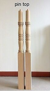 OAK PIN TOP STAIR NEWEL POSTS