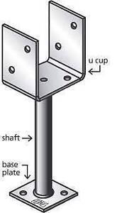 'U' cup stirrup – 90 X 75mm M12 Bolt Hole Base – Ø13.5mm Hole Coopers Plains Brisbane South West Preview