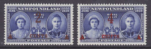 Newfoundland Sc 250-251 MNH. 1939 Royal Visit, cplt set