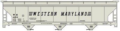 3 Bay Acf Hopper - Accurail (HO-Scale) #2113 ACF 3-Bay CenterFlow Hopper WESTERN MARYLAND #4652