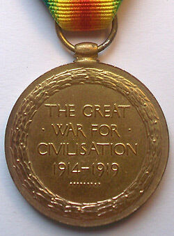 British Victory Medal Reverse